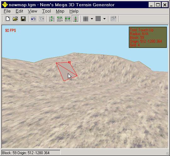 Интерфейс программы Nems Mega 3D Terrain Generator
